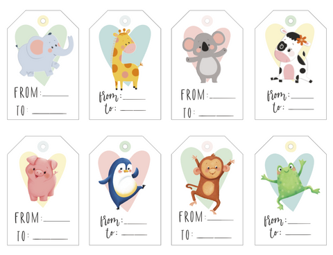 Little Hippo Books Baby Shower Gift Tags