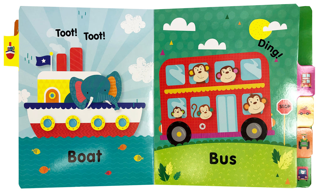 Little Hippo: Fantastic Firsts Vehicles Board Book Children Learning Tab