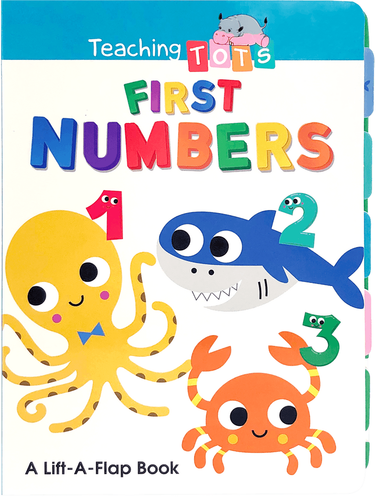 Chunky Lift-the-Flap: Teaching Tots Numbers Little Hippo Books Education Learning Homeschool Boy Girl Family