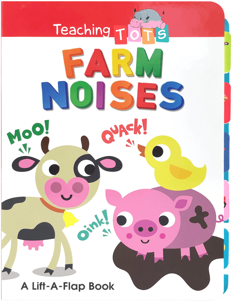Chunky Lift-the-Flap: Teaching Tots Farm Noises Little Hippo Books Education Learning Homeschool Boy Girl Family