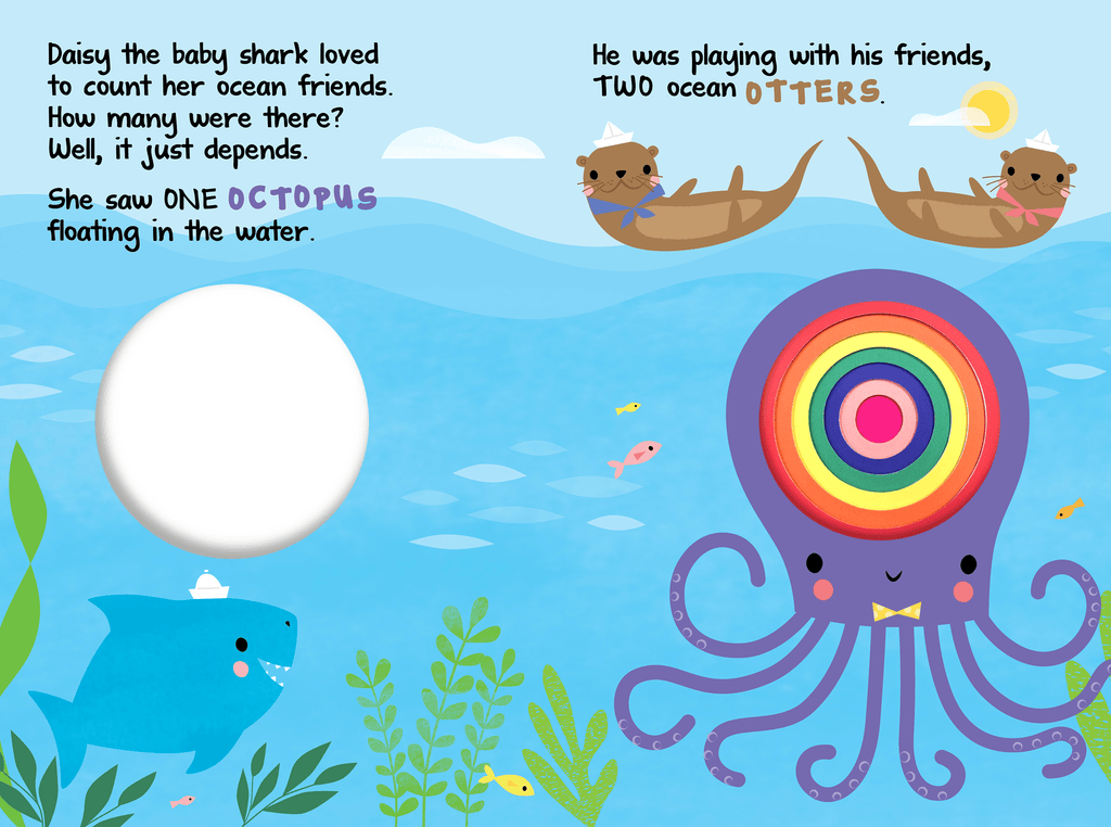 Little Hippo Concentric Books Baby Shark Counts