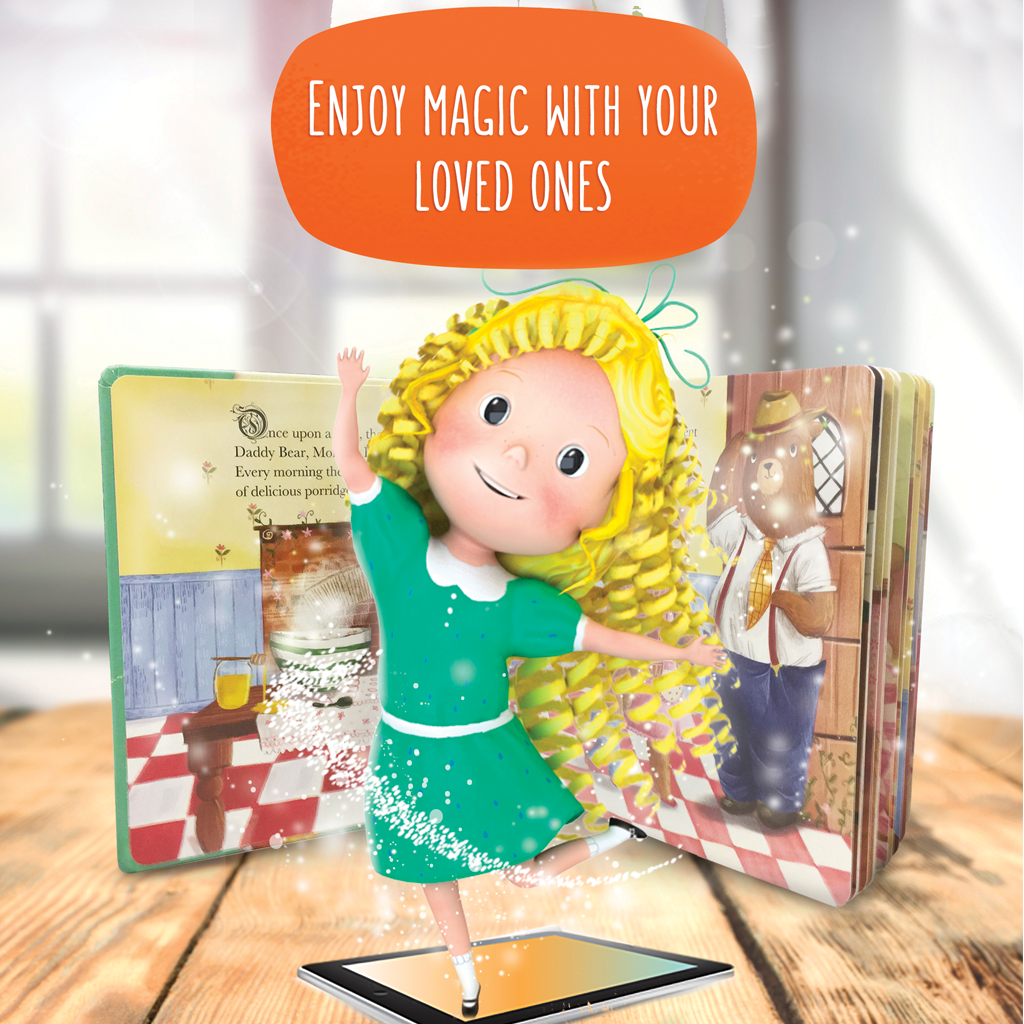 Little Hippo Come-to-Life Augmented Reality Book: Goldilocks Three Bears Fairy Tale