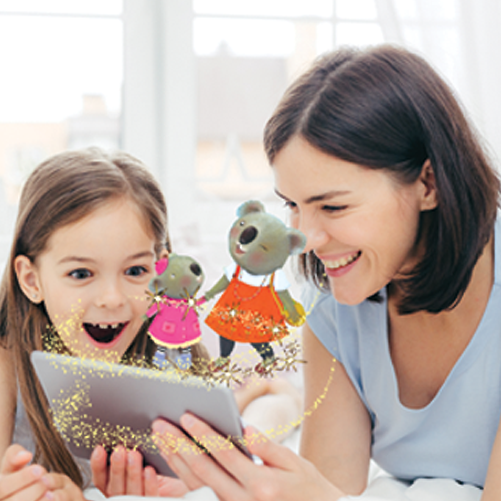Little Hippo Come-to-Life Augmented Reality Children's Book: I Love My Mommy