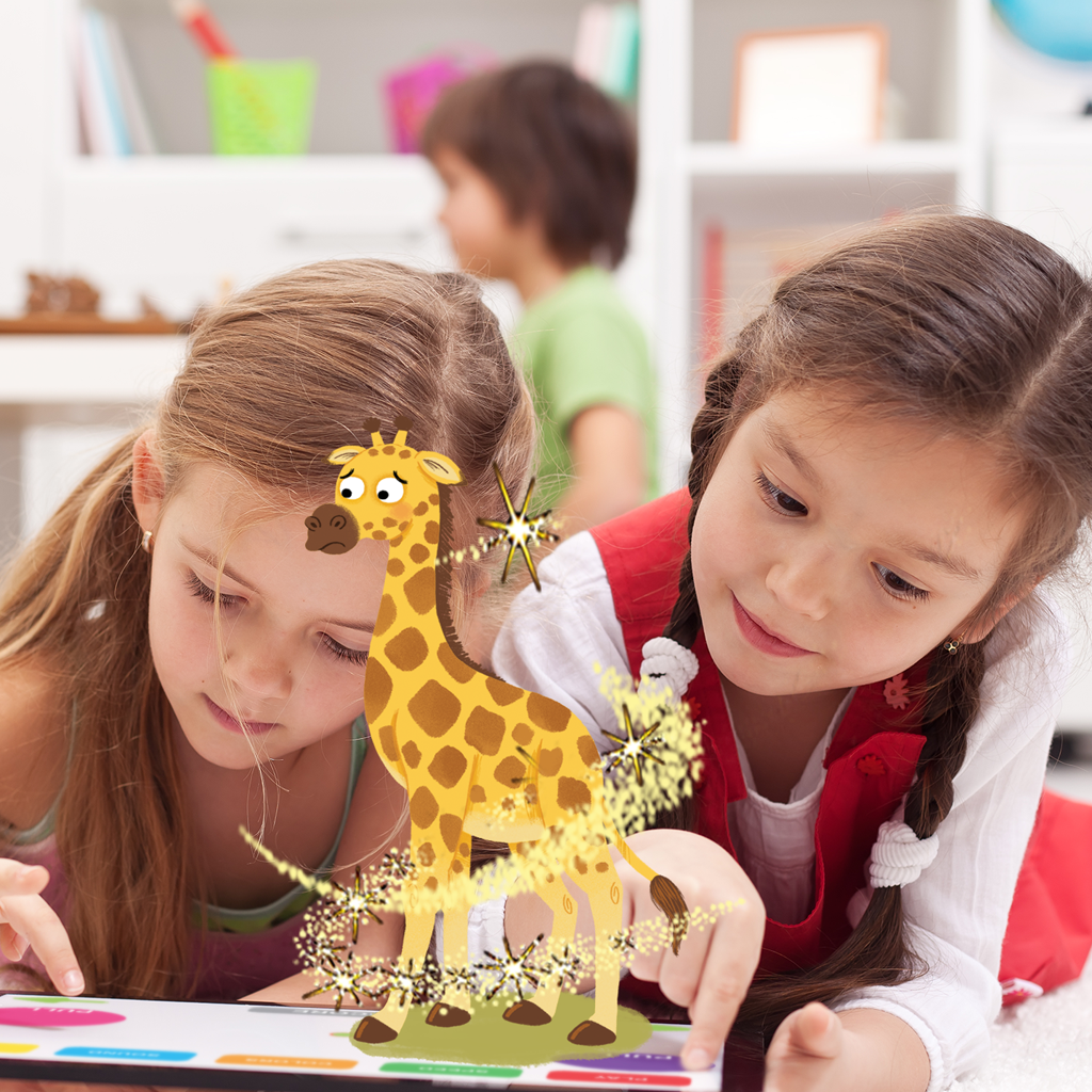 Little Hippo Books Come-to-Life Augmented Reality Children's Book Little Giraffe's Big Idea