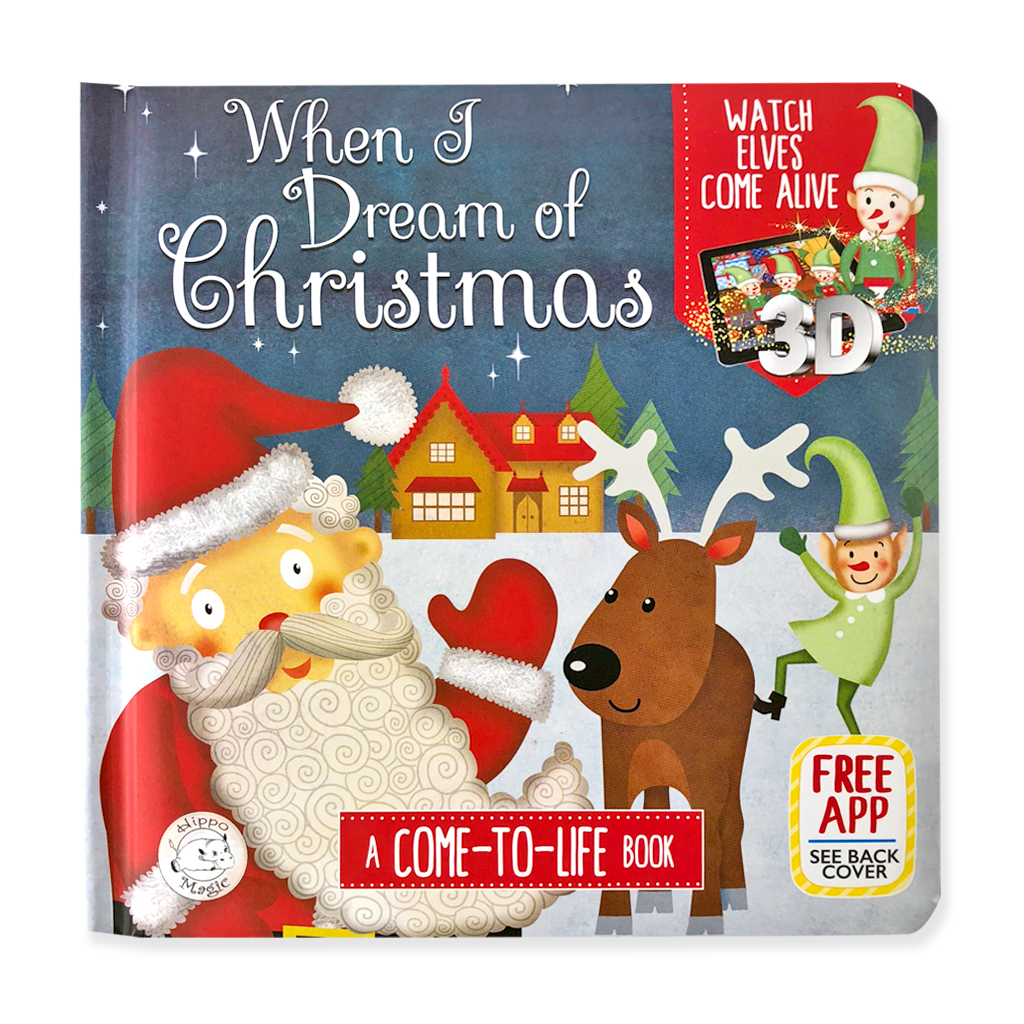 Little Hippo Come-to-Life Augmented Reality Children's Book When I Dream of Christmas