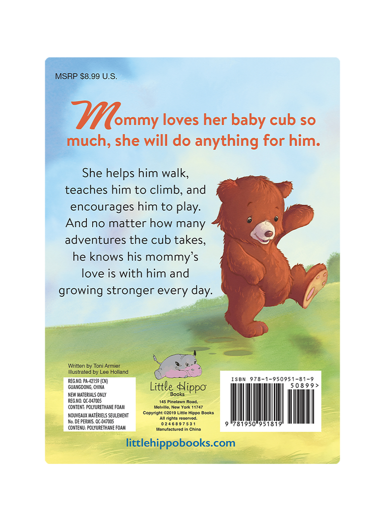 My Love for You Little Hippo Books Children's Padded Board Book Bedtime Story family