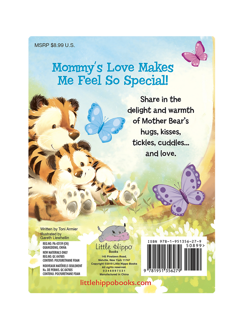 My Mommy's Love Little Hippo Books Children's Padded Board Book Bedtime Story family