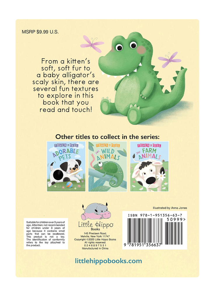 Little Hippo: Touch and Feel Baby Animals Board Book Children Tactile Learning