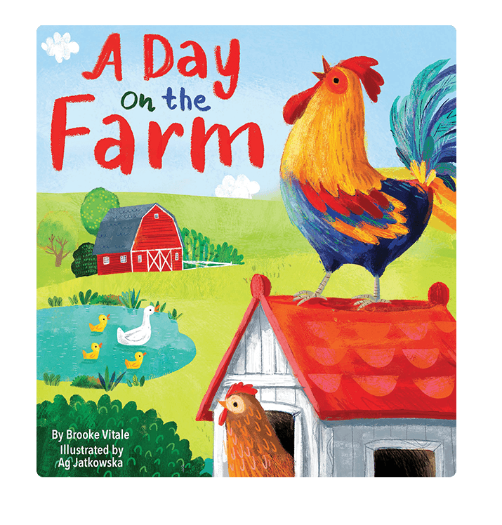 A Day On The Farm Little Hippo Books Children's Padded Board Book Bedtime Story family  animals