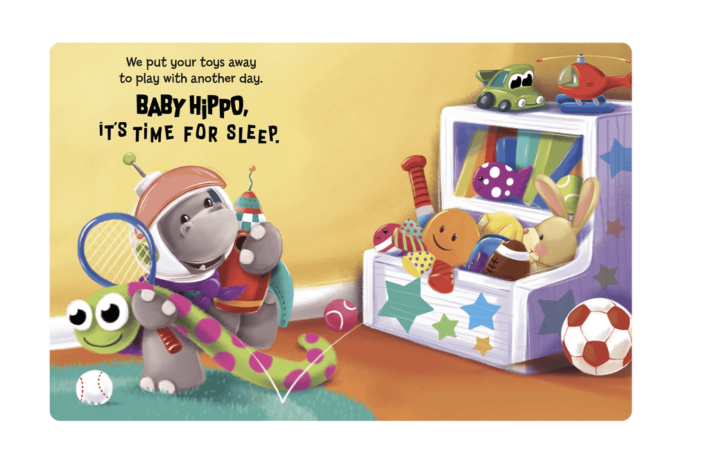 Little Hippo Books Children's Padded Board Book Baby Hippo Sleep Bedtime Story family