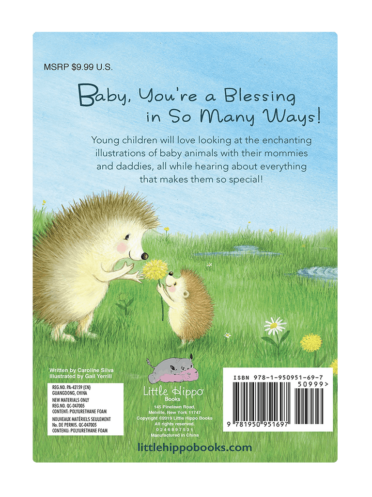 Baby You're A Blessing Love Little Hippo Books Children's Padded Board Book Bedtime Story family religious