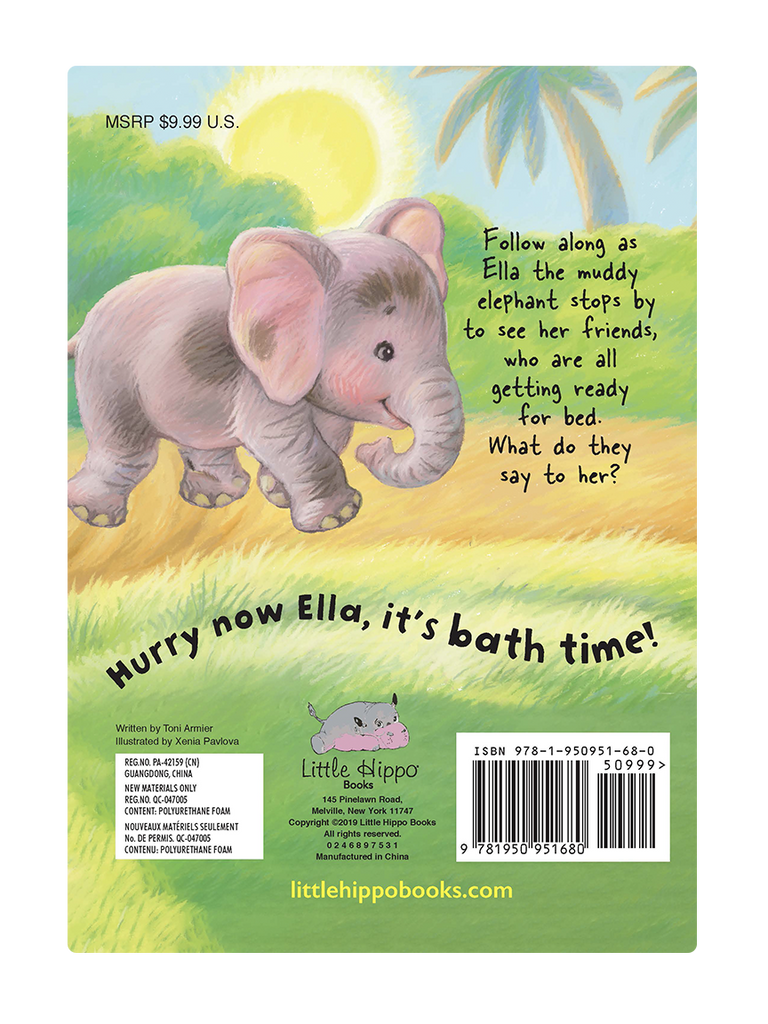 little hippo books animals bedtime padded board book children bath