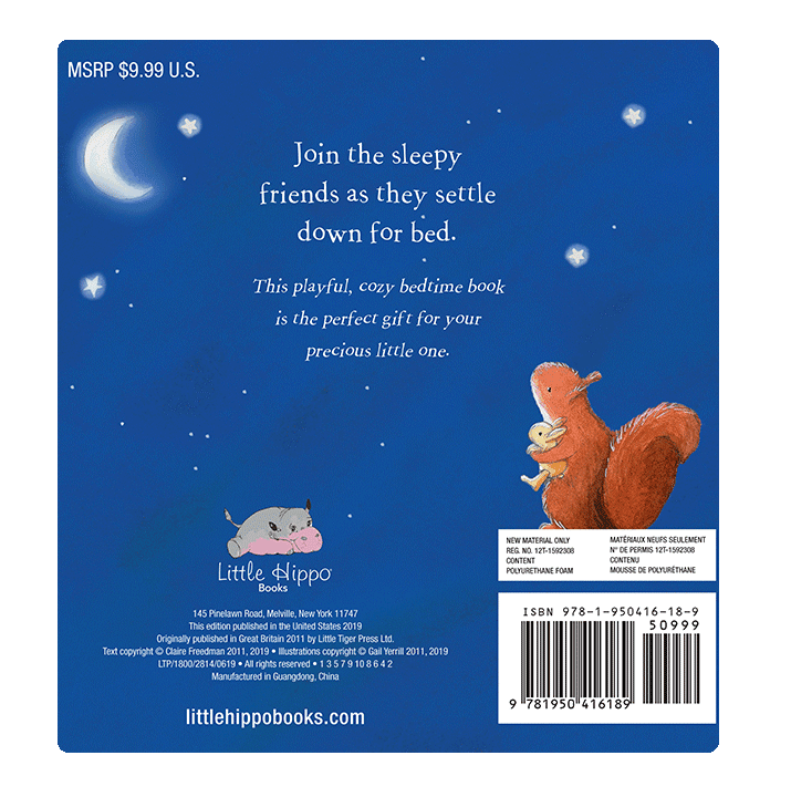 Little Hippo Books Children's Padded Board Book bedtime