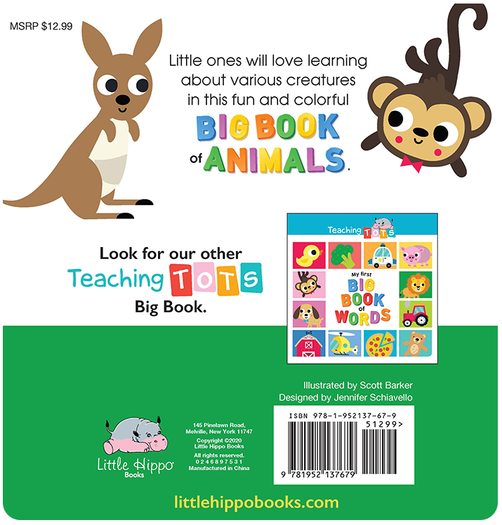 My First Big Book of Animals learning Little Hippo Books Children Early Learning