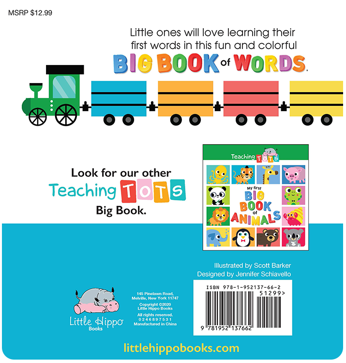 My First Big Book of Words learning Little Hippo Books Children Early Learning