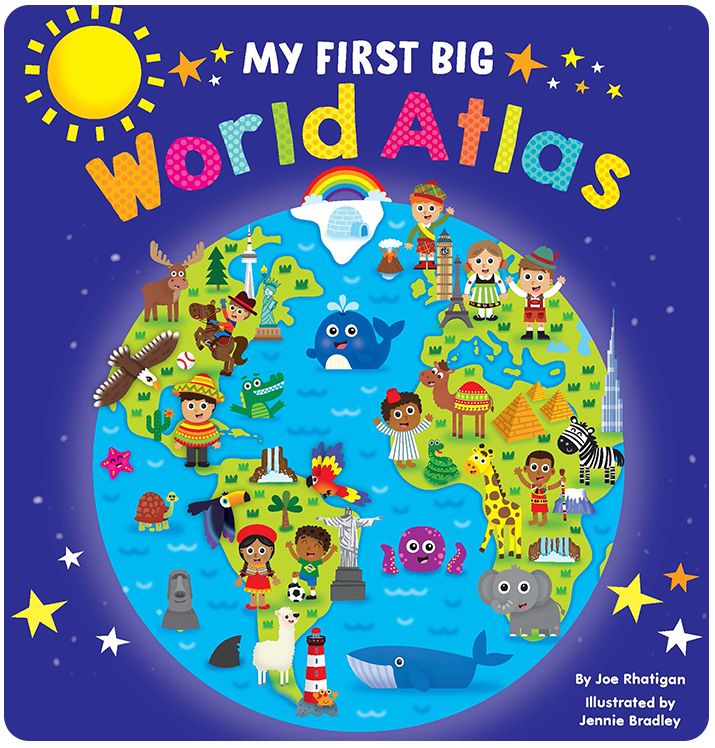 My First Big Atlas learning Little Hippo Books Children Early-learning globe world educational
