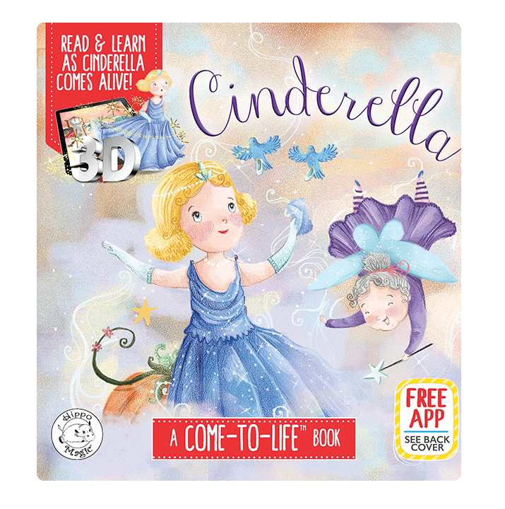 little hippo books classic bedtime padded board book children fairy tale cinderella augmented reality