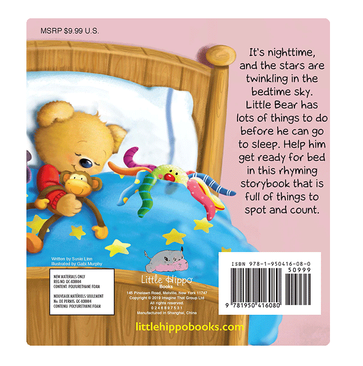 little hippo books animals bedtime padded board book children