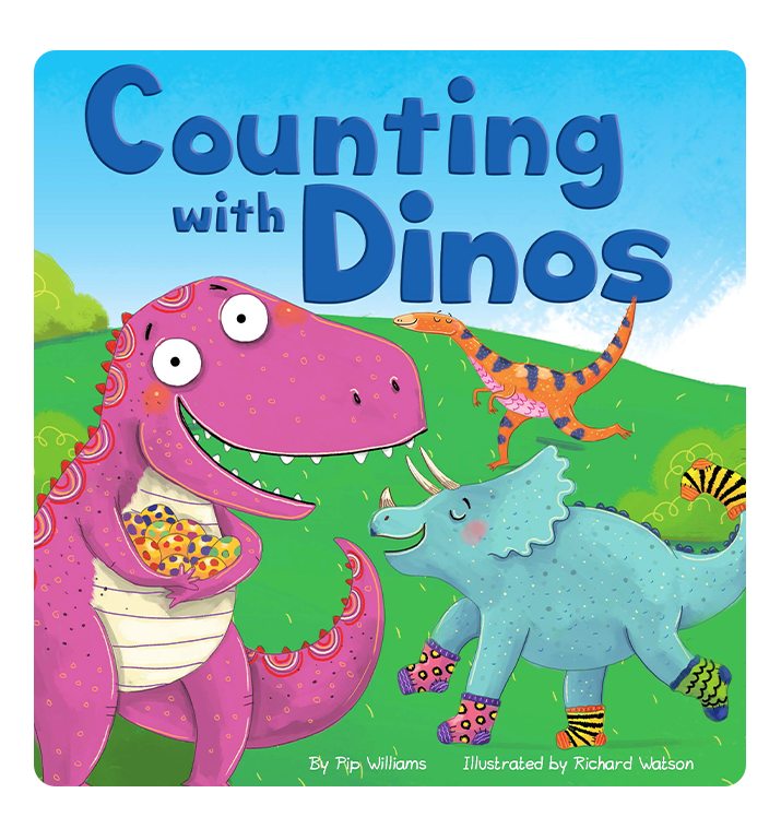 Little Hippo Books Counting with Dinos Dinosaurs Learning Homeschool Education Boys Girls Children Kids Book