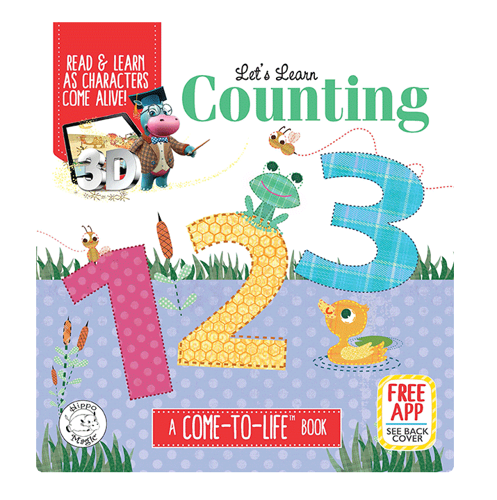 little hippo books learning padded board book children counting 123 come to life
