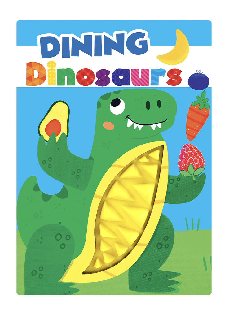 Little Hippo Books Dining Dinosaurs Silicone Touch and Feel Book