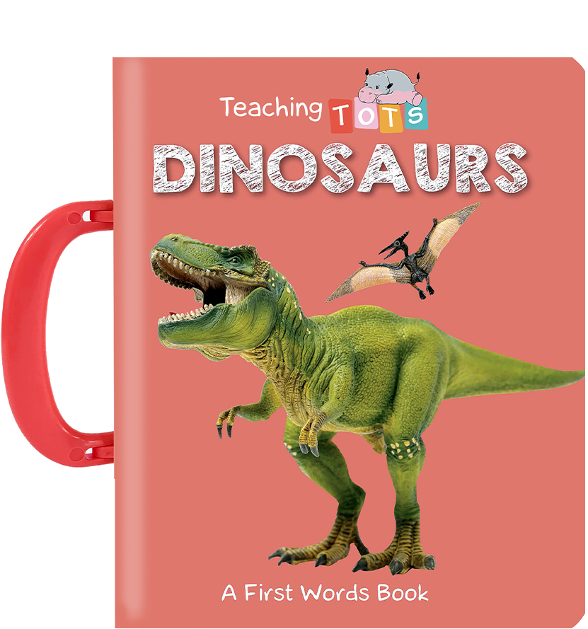 Little Hippo Books carry handle Board Book Children Dinosaurs learning