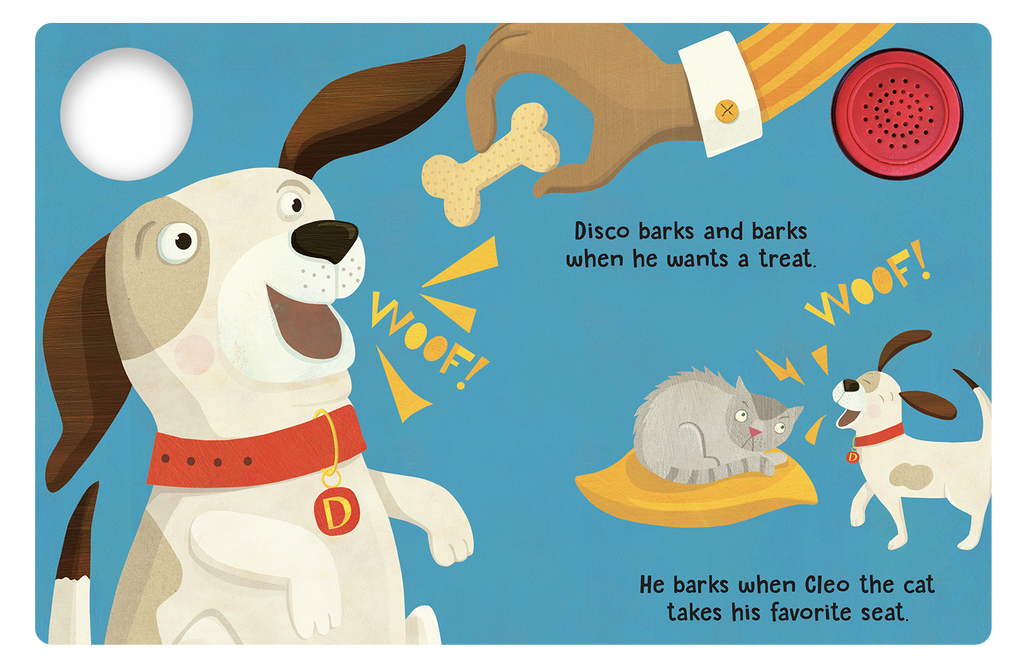 Disco the Dog - Little Hippo Books Sound Book - Children's Board Book - Interactive Fun Child's Book - Book for Boys or Girls