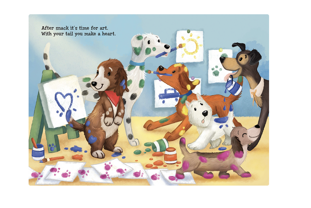 Doggie Day Care Love Little Hippo Books Children's Padded Board Book Bedtime Story family day care