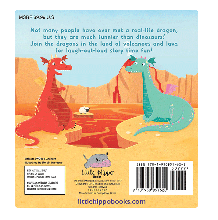 little hippo books children's padded board book dragons