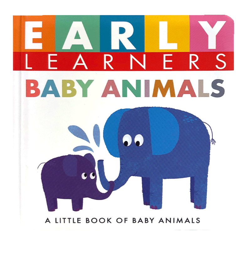 Little Hippo Early Learners Baby Animals Padded Board Book Children Learning