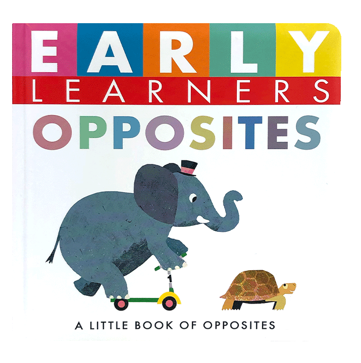 Little Hippo Early Learners Opposites Padded Board Book Children Learning