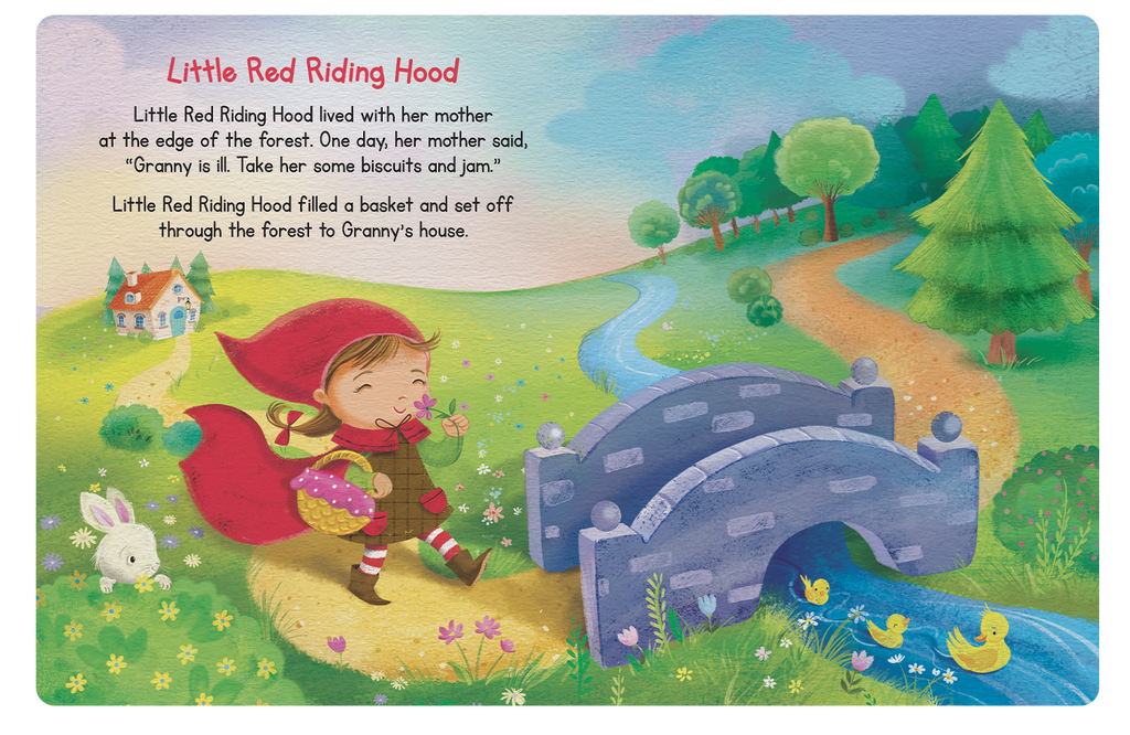 Little Hippo Books Children's Padded Board Book My First Book of Fairy Tales Little Red Riding Hood Three Little Pigs Ugly Duckling Sleep Bedtime Story family classic