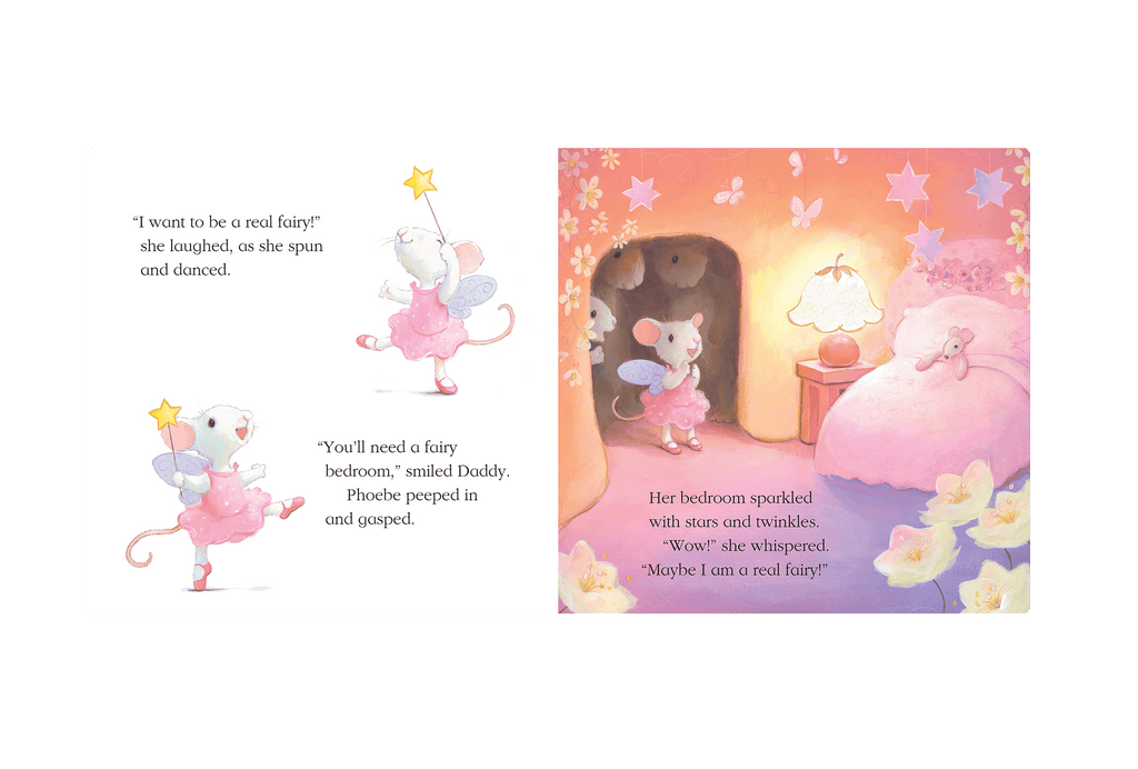 Little Hippo Fairy Wishes Padded Board Children's Book mouse fantasy