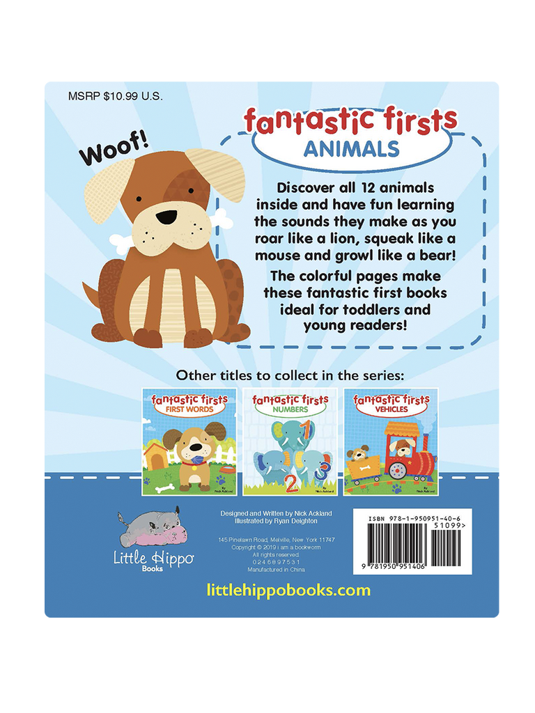 Little Hippo: Fantastic Firsts Animal Sounds Board Book Children Learning Tab