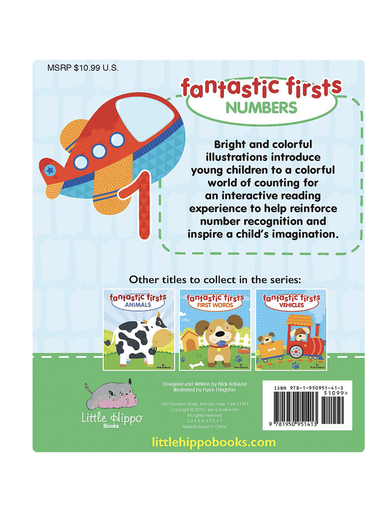 Little Hippo: Fantastic Firsts Numbers Board Book Children Learning Tabs Counting