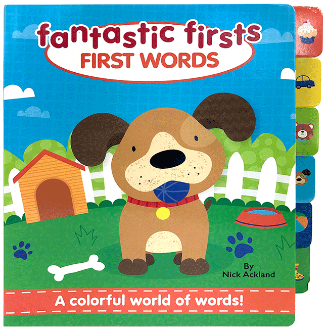 Little Hippo: Fantastic Firsts Words Board Book Children Learning Tabs