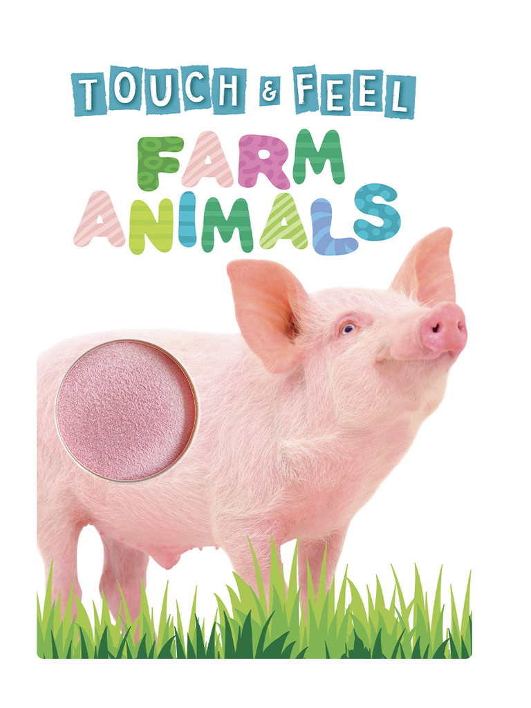 Little Hippo: Touch and Feel Farm Animals Board Book Children Tactile Learning Real Photography Cow Pig Horse Sheep Duck