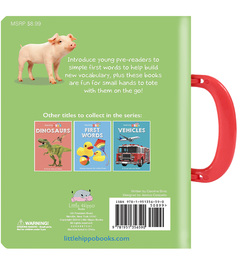 Little Hippo Books carry handle Board Book Children farm learning