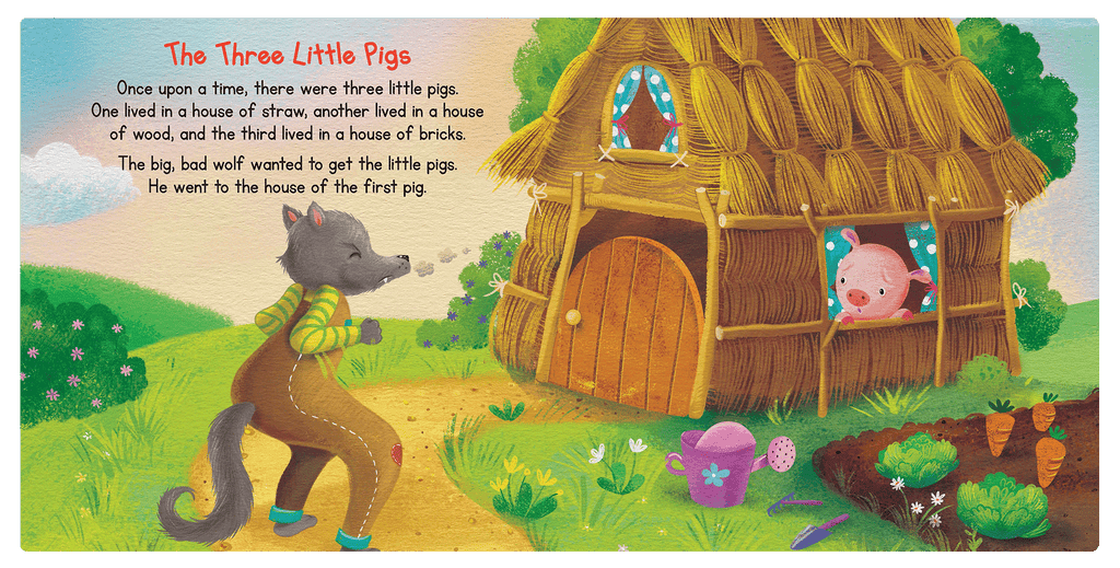 Little Hippo Books Favorite Fairy Tales Classic Boys Girls Children Kids Padded Board Book Nursery Rhymes Little Red Riding Hood Ugly Duckling Three Little Pigs