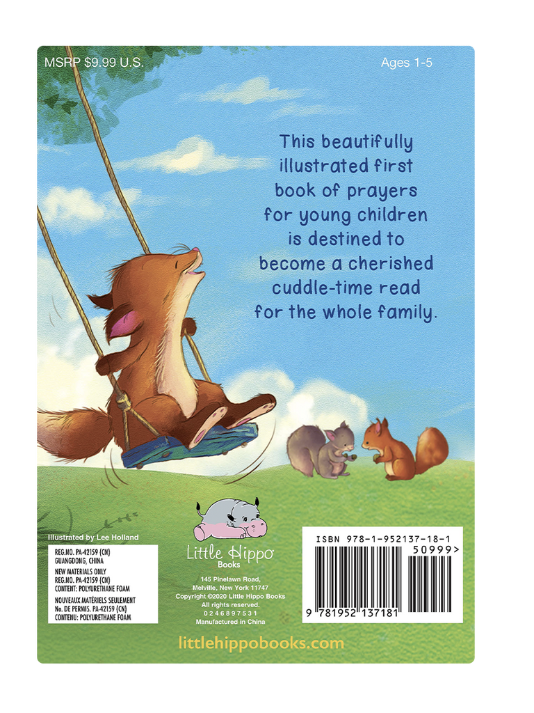 First Book of Prayers Little Hippo Books Children's Padded Board Book Bedtime Story family religious