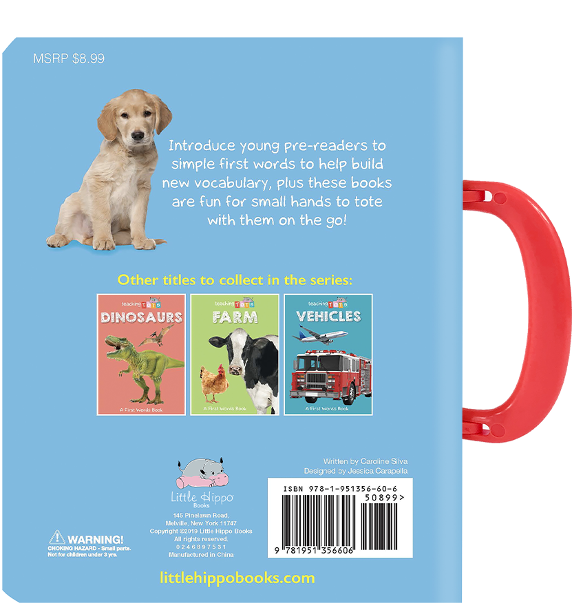 Little Hippo Books carry handle Board Book Children first words learning