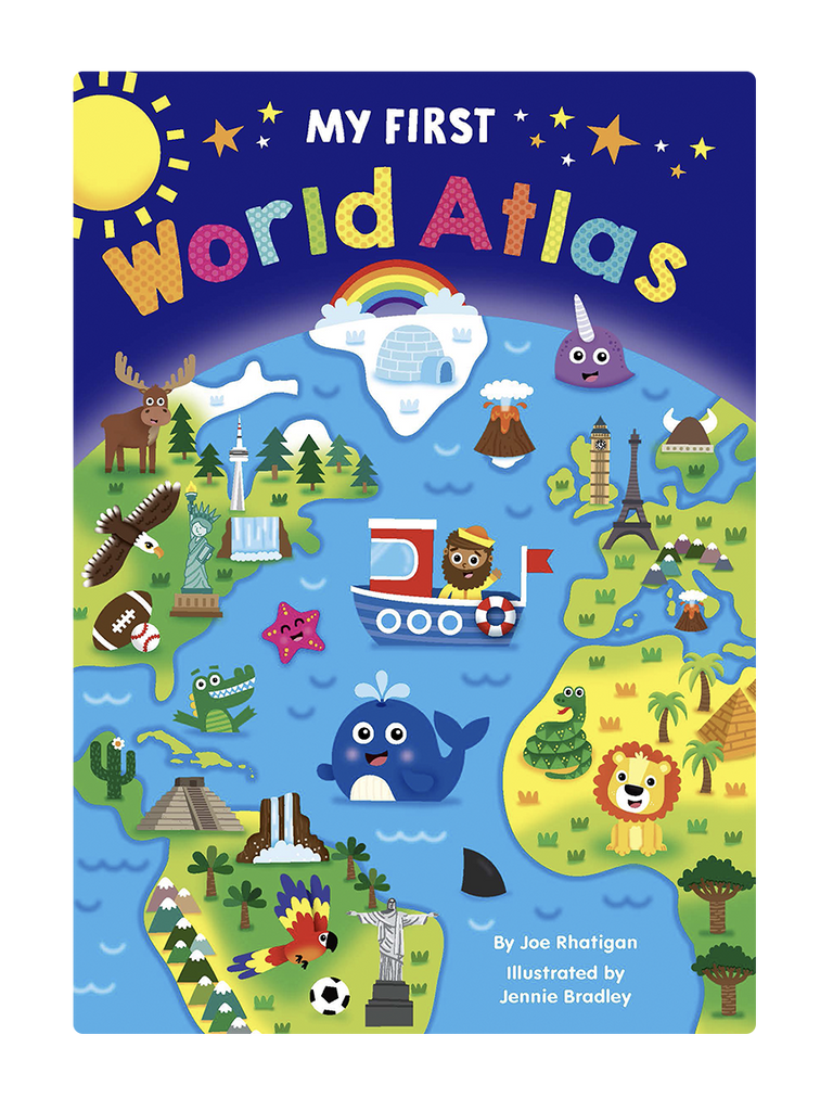 First World Atlas Little Hippo Books Children's Padded Board Book educational early learning