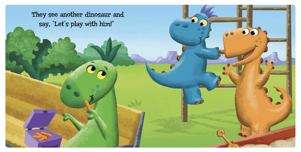 Five Little Dinosaurs Little Hippo Books Children's Padded Board Book friendship dinosaurs counting early learning