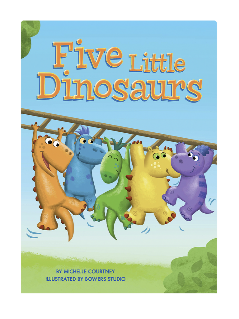 Five Little Dinosaurs Little Hippo Books Children's Chunky Padded Board Book Bedtime Story counting