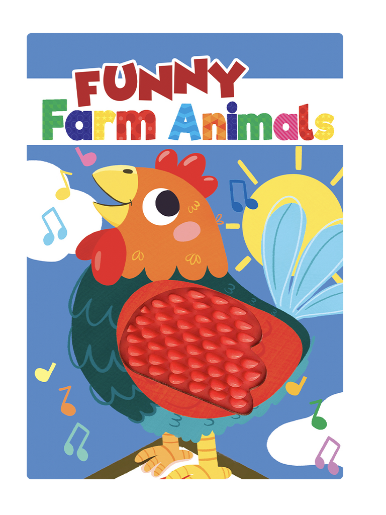 Little Hippo Books Funny Farm Animals Rooster, Chick, Pig, Horse, Sheep