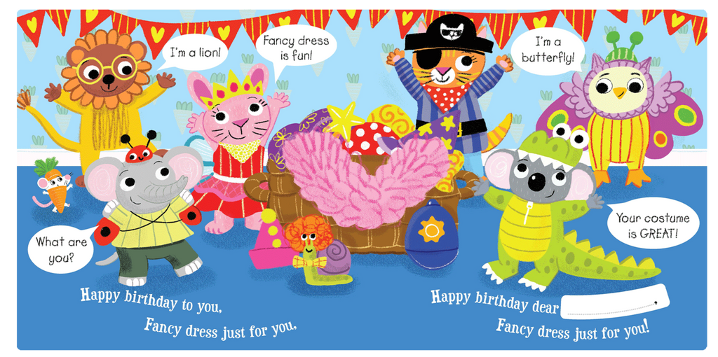 Little Hippo Happy Birthday to You Padded Board Children's Book Animals