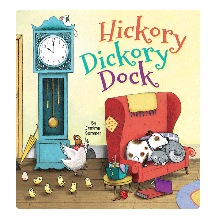 little hippo books classic bedtime padded board book children hickory dickory dock