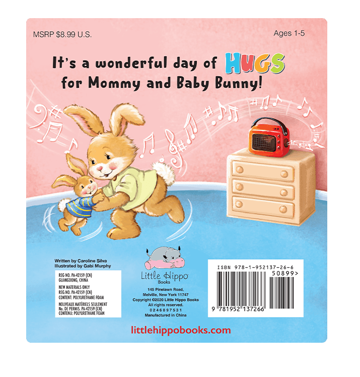 A Hug for You Little Hippo Books Children's Padded Board Book bedtime bunny rabbit love family