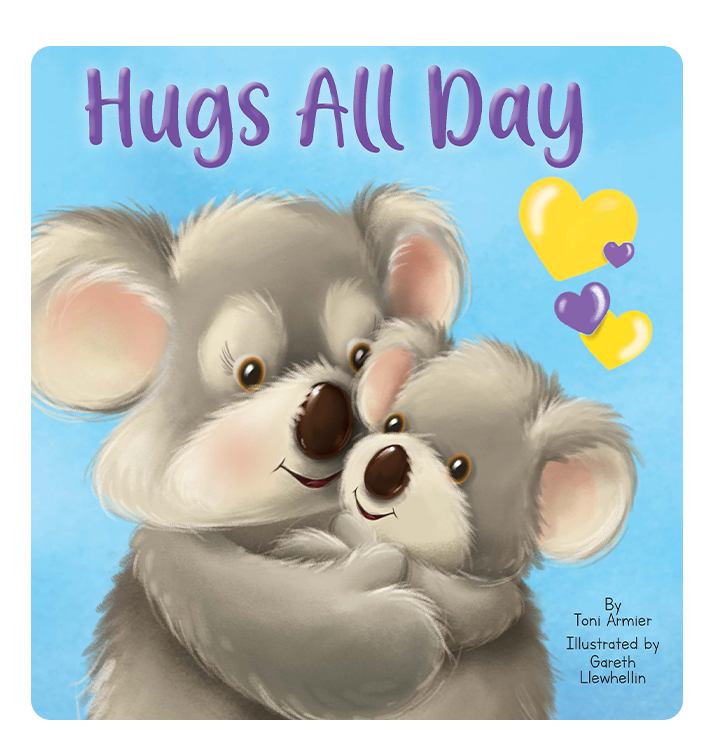 Hugs All Day Little Hippo Books Children's Chunky Padded Board Book Bedtime Story family