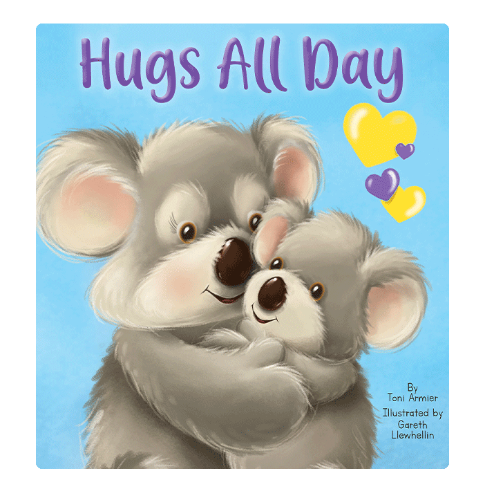 Hugs All Day Love Little Hippo Books Children's Padded Board Book Bedtime Story family